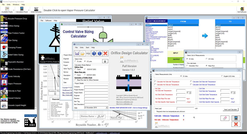 Click to view Process Engineering Calculator 2.0.0 screenshot