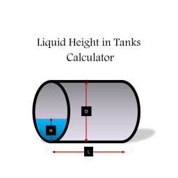 Liquid Height in Tanks Calculator