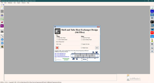 Shell and tube heat exchanger software